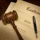Contract with Gavel and Pen